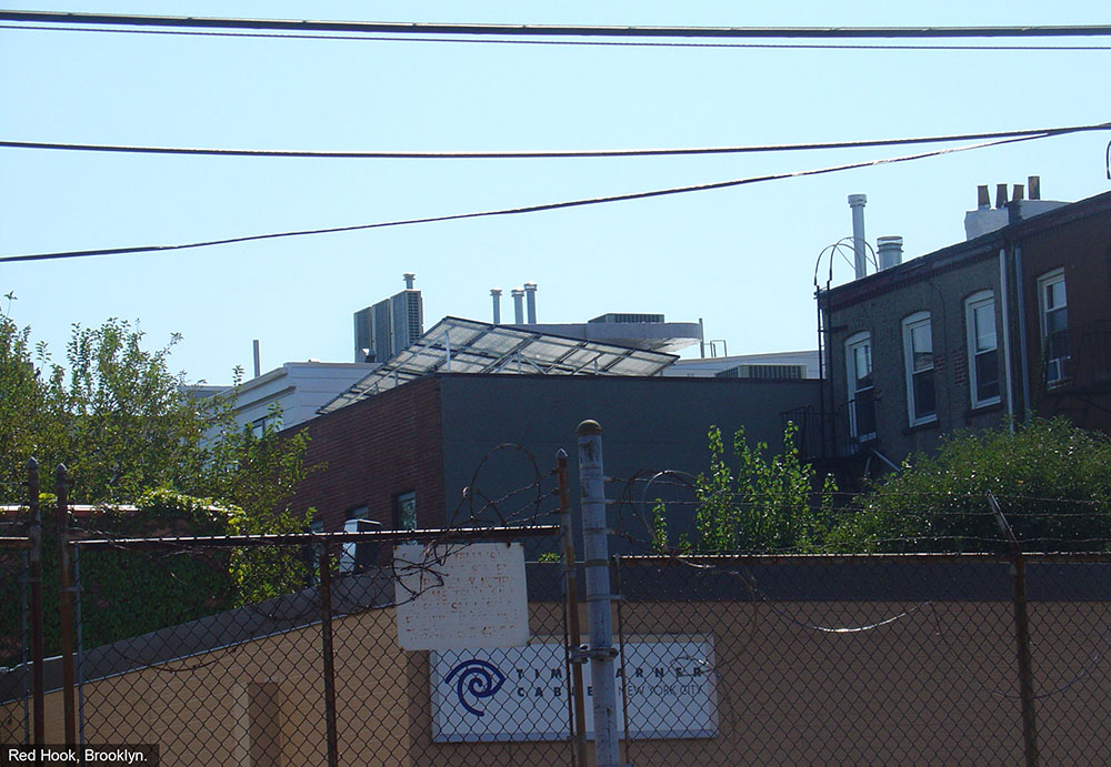 Rooftop solar array Brooklyn NY.
