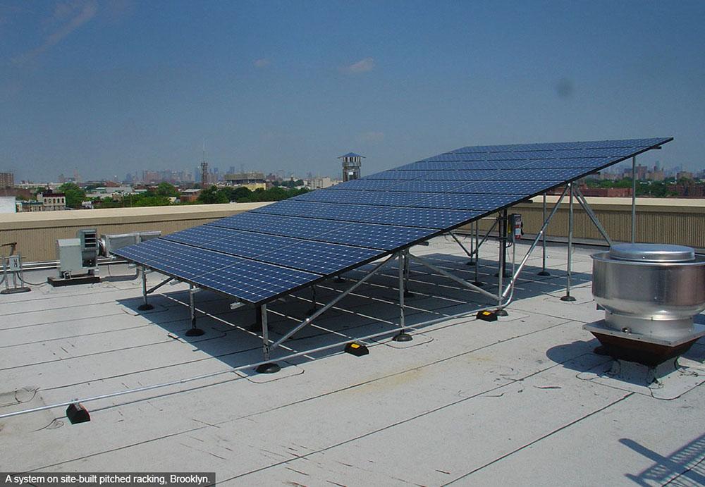 Rooftop solar array Brooklyn NY.